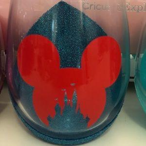Mickey Disney Castle Handmade Wine Glass